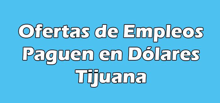 Trabajos que Paguen en Dólares en Tijuana