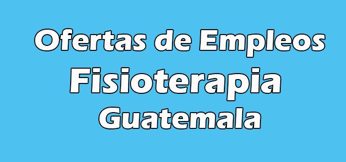 Trabajos de Fisioterapia en Guatemala