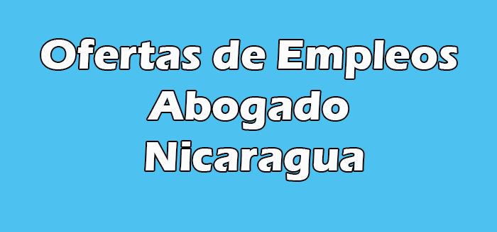 Trabajo para Abogado Nicaragua